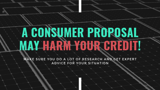 Consumer Proposal Can Damage Credit