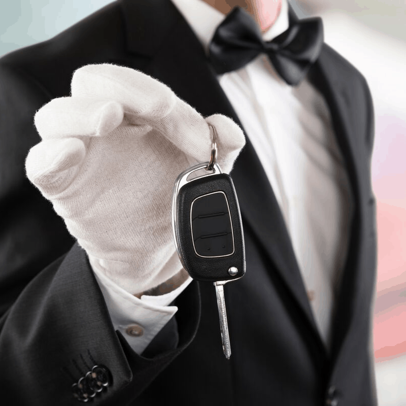 1. Valet driver at posh restaurants and hotels